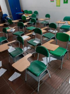 Educación, aula de clase vacía