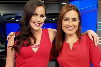 Linda Palma y Daniela Pachón, presentadoras.
