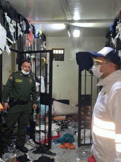 Hacinamiento e intento de fuga en estación de Policía en Bogotá