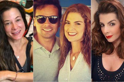La actriz Estefanía Borge y las presentadoras Rochi Stevenson (con su esposo Alfredo Varela) y Carolina Cruz.