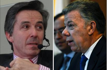 Roberto Prieto y Juan Manuel Santos