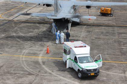 Avión hospital de la Fuerza Aérea.