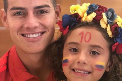 Salomé y su papá, James Rodríguez