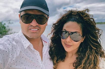 Hassam, humorista, y su esposa Tatiana Orozco.