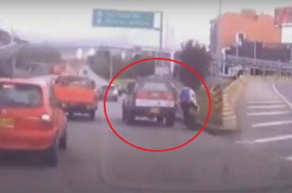 Ciclista atropellado en Bogotá