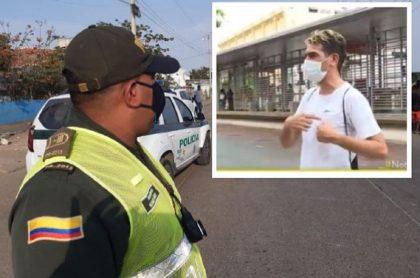 Joven multado cuando buscaba a su padre muerto en Cartagena