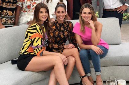 Carolina Cruz, Carolina Soto y Catalina Gómez, presentadoras.