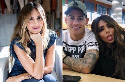 Shannon de Lima, modelo, y James Rodríguez, futbolista, con su hermana, la 'youtuber' Juana Valentina.