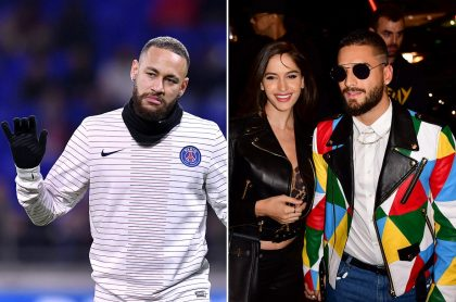 Neymar, futbolista; Natalia Barulich, DJ; y Maluma, cantante. (1)
