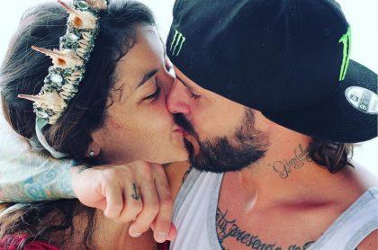 'Maleja' Restepo, actriz, y su esposo, el motocrosista 'Tatán' Mejía.