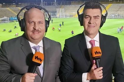 René Wehdeking y Eduardo Luis López, periodistas de Win