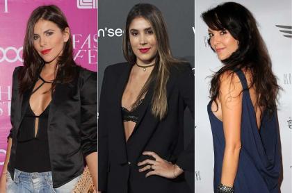 María Fernanda Yepes, actriz; Daniela Ospina, modelo; y Carolina Gómez, exreina y actriz.