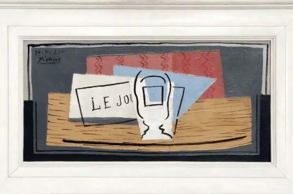 Italiana se ganó este cuadro de  Picasso en una rifa.