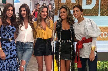 Andrea Serna, Carolina Cruz y Daniella Álvarez, presentadoras.