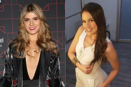 Laura Tobón y Linda Palma, presentadoras.