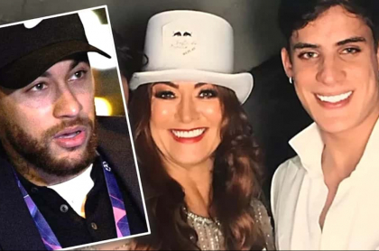 Neymar, Nadine Goncalves y Tiago Ramos