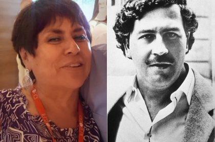 'La Negra candela', presentadora, y Pablo Escobar, narcotraficante.