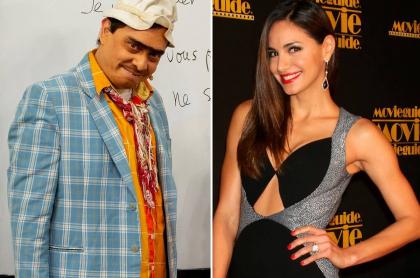 Suso, humorista, y Valerie Domínguez, exreina y presentadora.