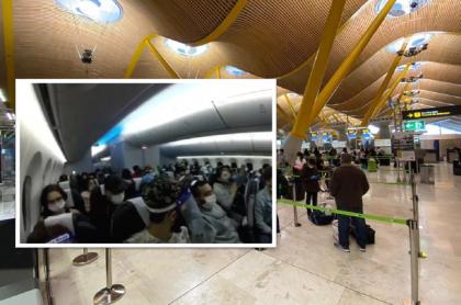 Colombianos repatriados.