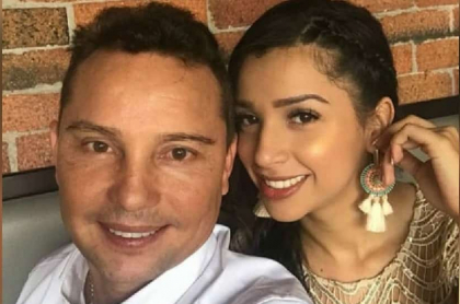Giovanny Ayala y exesposa.