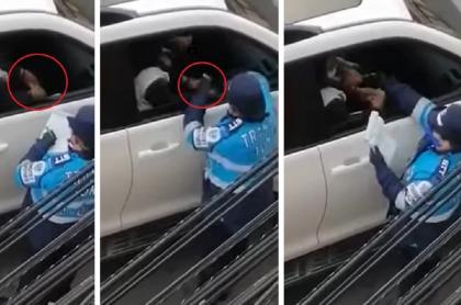 Agente de tránsito en Tunja recibe aparente soborno