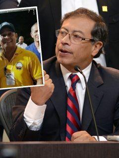 Minero con Gustavo Petro
