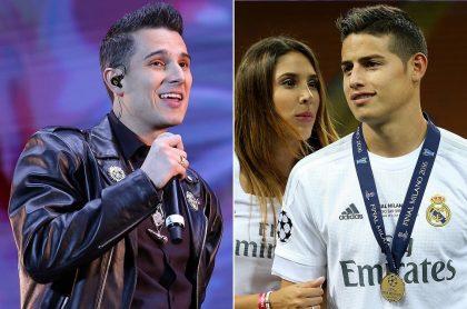 Pipe Bueno, cantante; Daniela Ospina, modelo; y James Rodríguez, futbolista.