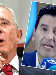 Álvaro Uribe y Néstor Morales