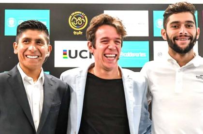 Nairo Quintana, Rigoberto Urán y Fernando Gaviria