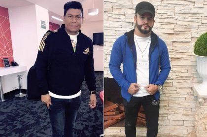 Álex Manga y Nelson Velásquez, cantantes.
