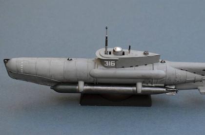 Submarino alemán hundido en el mar Báltico.