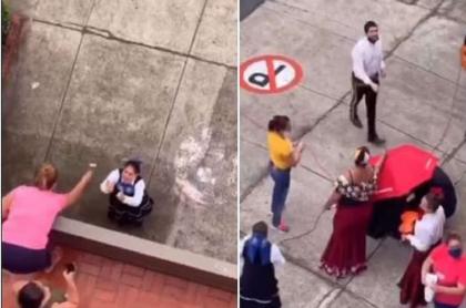 Mujer lanza huevos a mariachis en Bucaramanga