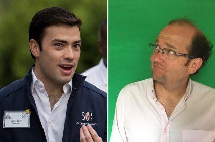 Esteban Santos, hijo del expresidente Juan Manuel Santos, y Daniel Samper, periodista.