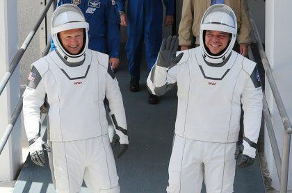 Astronauts Bob Behnken y Doug Hurley, tripulantes del SpaceX