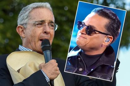 Álvaro Uribe y Silvestre Dangond
