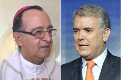 Monseñor Óscar Vélez e Iván Duque