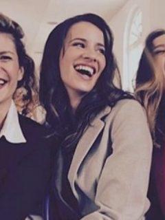Mabel Moreno, Laura Londoño y Lina Tejeiro, actrices.