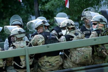 Guardia Nacional de Estados Unidos desplegada cerca de la Casa Blanca.