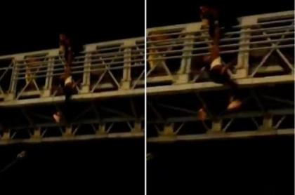 Salvan a mujer que quería saltar de puente en Santa Marta