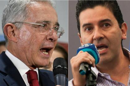 Álvaro Uribe Vélez y Néstor Morales