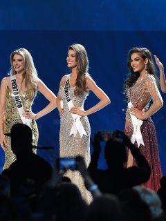 Zozibini Tunzi, Madison Anderson, Gabriela Tafur, Paweensuda Drouin y Sofía Aragón, reinas de Sudáfrica, Puerto Rico, Colombia, Tailandia y México en Miss Universo 2019.