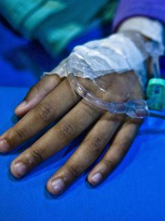 Niño hospitalizado (imagen de referencia)