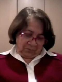 Aida Avella, en sesión virtual del Senado