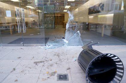 Tienda Apple saqueada