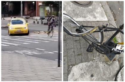 Taxista atropella a ciclista.