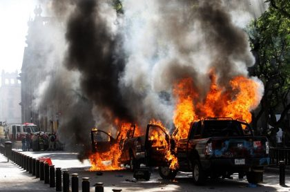 México protestas contra policía