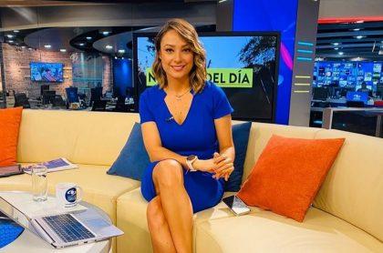 Mónica Jaramillo, presentadora.