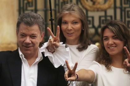 Juan Manuel Santos, expresidente, con su esposa, 'Tutina', y su hija, María Antonia.