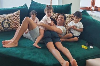 Cristiano Ronaldo y sus hijos