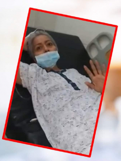 Mujer enferma de cáncer.
